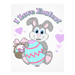 ¡Amo Pascua! Conejito de pascua Plantillas De Membrete