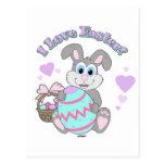 ¡Amo Pascua! Conejito de pascua Postal