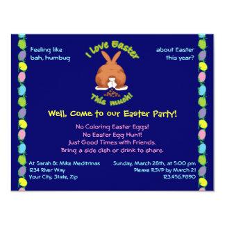 Amo Pascua esta invito mucho Invitación 10,8 X 13,9 Cm