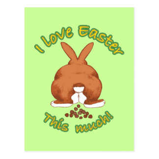 Amo Pascua esta mucha postal