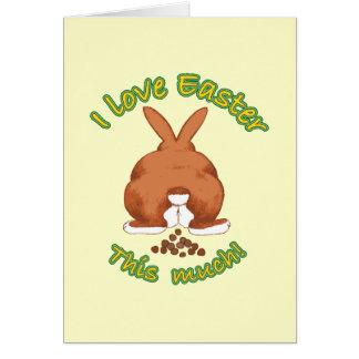 Amo Pascua este mucho Notecard Tarjeta