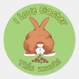 Amo Pascua este mucho pegatina