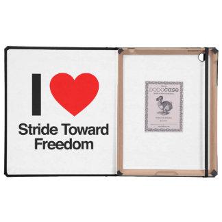 amo paso grande hacia la libertad iPad funda