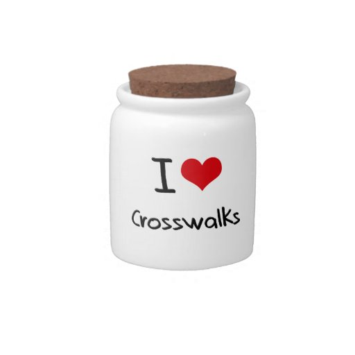 Amo pasos de peatones plato para caramelo