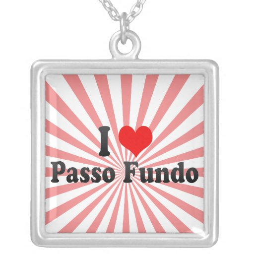 Amo Passo Fundo, el Brasil Collares Personalizados