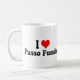 Amo Passo Fundo el Brasil Taza De Café