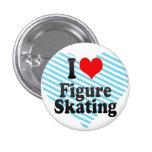 Amo patinaje artístico pin