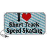 Amo patinaje de velocidad corto de la pista PC altavoces