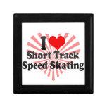Amo patinaje de velocidad corto de la pista cajas de regalo