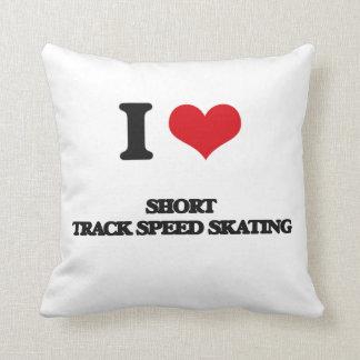 Amo patinaje de velocidad corto de la pista almohadas
