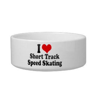Amo patinaje de velocidad corto de la pista tazones para comida para gato