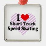 Amo patinaje de velocidad corto de la pista adorno para reyes