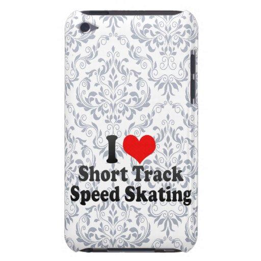 Amo patinaje de velocidad corto de la pista Case-Mate iPod touch fundas