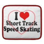 Amo patinaje de velocidad corto de la pista fundas para iPads
