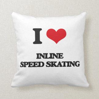 Amo patinaje de velocidad en línea almohada