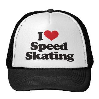 Amo patinaje de velocidad gorras de camionero