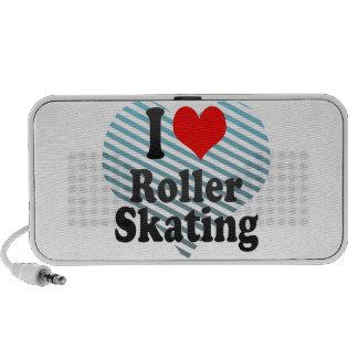 Amo patinaje sobre ruedas iPod altavoces