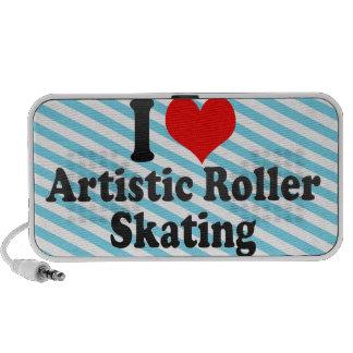 Amo patinaje sobre ruedas artístico altavoces