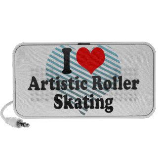 Amo patinaje sobre ruedas artístico altavoces de viaje
