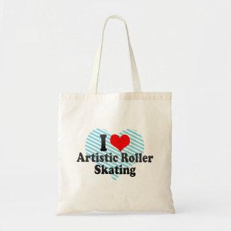 Amo patinaje sobre ruedas artístico bolsa tela barata