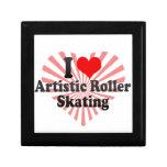 Amo patinaje sobre ruedas artístico cajas de regalo