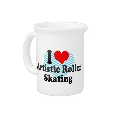 Amo patinaje sobre ruedas artístico jarrones