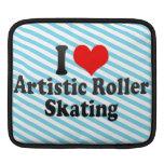 Amo patinaje sobre ruedas artístico mangas de iPad