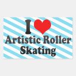Amo patinaje sobre ruedas artístico rectangular altavoz