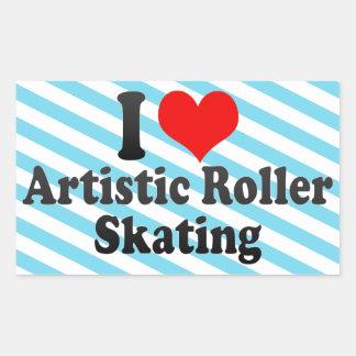 Amo patinaje sobre ruedas artístico pegatina