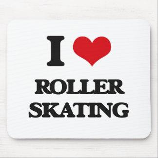 Amo patinaje sobre ruedas tapete de ratones