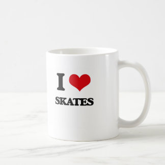 Amo patines taza básica blanca