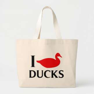Amo patos bolsa tela grande