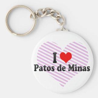 Amo Patos de Minas el Brasil Llaveros Personalizados