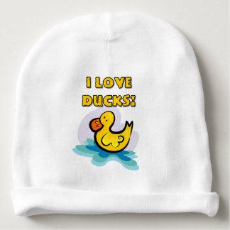 Amo patos gorrito para bebe