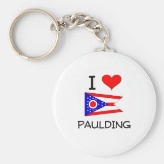 Amo Paulding Ohio Llavero Redondo Tipo Pin