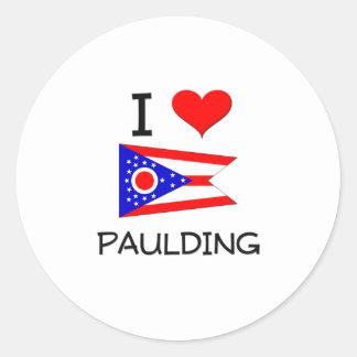 Amo Paulding Ohio Pegatina Redonda