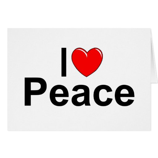 Amo paz (del corazón) felicitación
