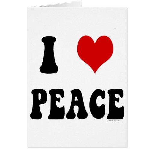 Amo paz (del corazón) tarjeta de felicitación