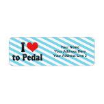 Amo Pedal Etiqueta De Remite