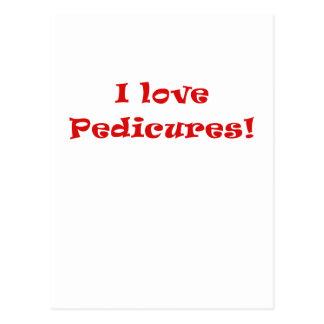 Amo Pedicures Tarjeta Postal