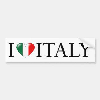 """""""Amo pegatina de Italia"""" Pegatina De Parachoque"""