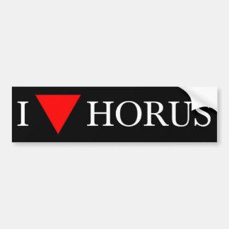 """Amo pegatina para el parachoques de Horus"" Pegatina Para Auto"