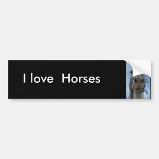 Amo, pegatina para el parachoques de los caballos etiqueta de parachoque