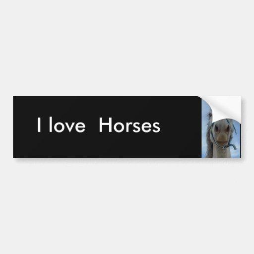 Amo, pegatina para el parachoques de los caballos pegatina para auto