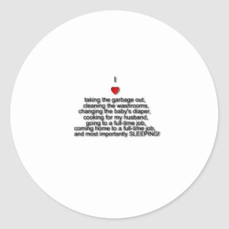 Amo… Pegatina Redonda