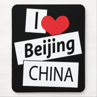 Amo Pekín China Alfombrilla De Ratones