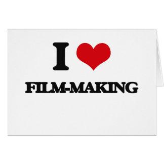 Amo Película-Making Felicitación