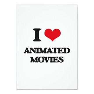 """Amo películas animadas invitación 5"""" x 7"""""""