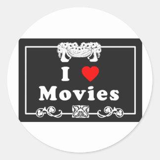 Amo películas con instinto de la película muda pegatinas