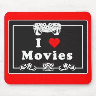 Amo películas con instinto de la película muda alfombrilla de raton